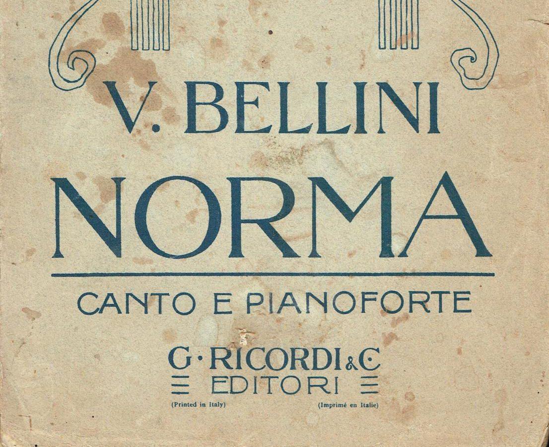 Poster for Italian Opera Bellini Norma