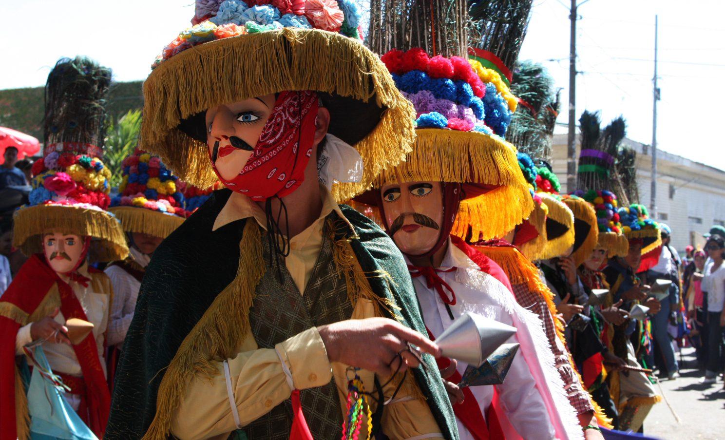 Toro Huaco dancers in Diriamba, Nicaragua